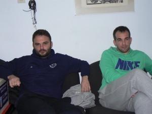 Ο πρόεδρος του Σχηματαρίου Θ.Καμινιώτης και ο αρχηγός της ομάδας Σωτ.Κώνστας.